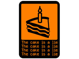 Sticker Jinx: The Cake is a Lie