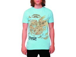 Polera Adventure Time Map of Ooo Lt Blue S