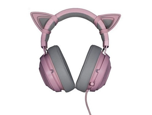Headset Razer Kraken Pro V2 Quartz + Kitty Ears