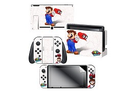 Super Mario Odyssey Map Skin and Screen Set NSW