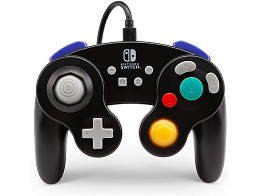 Control con Cable GameCube PowerA Negro NSW