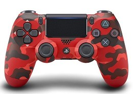 Control Sony DualShock 4 Red Camouflage PS4